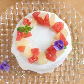 グーレープフルーツショートケーキ