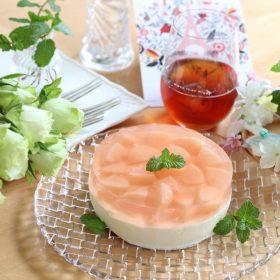 桃レアチーズ
