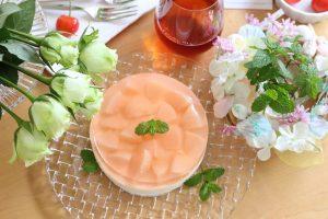 桃のレアチーズ